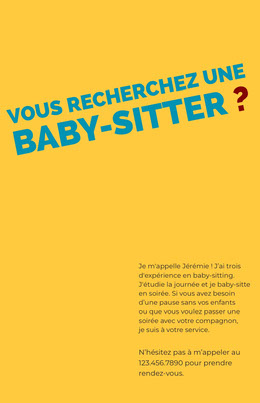 babysittingflyers  Prospectus