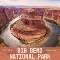 Brown National Park Square Instagram Ad with Canyon Desert