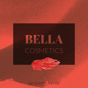 Red Cosmetic Product Square Label Etichetta