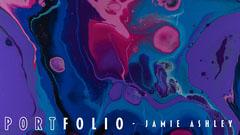 Watercolor Portfolio Cover Purple