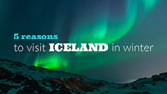 Iceland Travel and Tourism Blog Post Graphic with Aurora Borealis Travel Agency