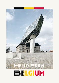 Antwerp Modern Landmark Building Photo Belgium Postcard Architecture