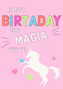 magical unicorn birthday cards Biglietto di compleanno