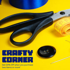 Yellow Crafty Corner Instagram Square Crafts