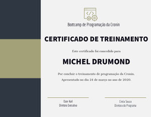 MICHEL DRUMOND Diploma