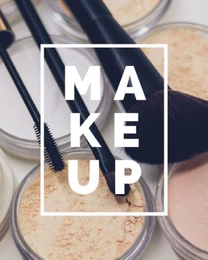 Warm Toned Makeup Instagram Portrait Makeup Business Card Templates