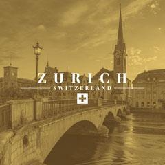 Yellow Bridge in Zurich Instagram Square Adventure