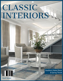White and Modern Building Interior Magazine Cover Magazine Cover