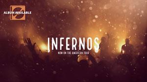 Gold and Black Infernos Concert Ad Facebook Banner Music Banner