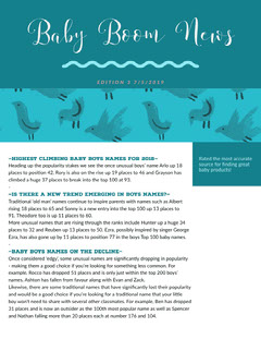 Turquoise Illustrated Parenthood Newsletter Graphic Bird