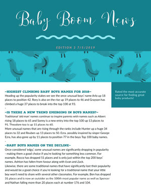 Turquoise Illustrated Parenthood Newsletter Graphic Newsletter