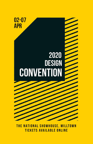 Yellow and Black Geometric Design Convention Flyer Conference Flyer