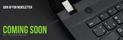 Black Laptop Horizontal Ad Banner Tech