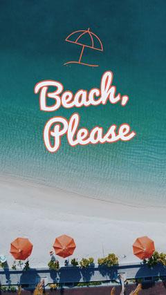 Blue and Orange Beach Pun Instagram Story Beach