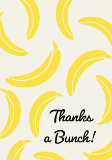 Yellow Bananas Thank You Greeting Card Tarjetas