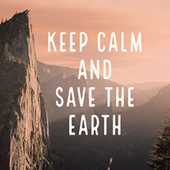 Red and White Toned Save The Earth Instagram Post Keep Calm