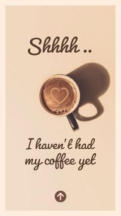 Brown Morning Coffee Instagram Story Instagram Story