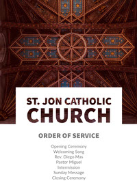 St. Jon Catholic Church Flyer