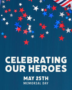 Memorial Day Stars Instagram Portrait Stars