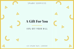 Yellow Gift Card Gift Card