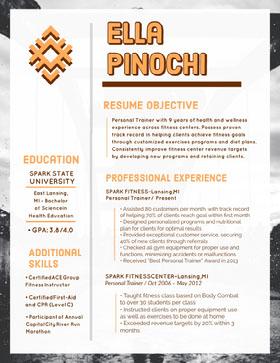 Ella Pinochi Creative Resume