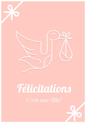 it's a girl congratulations cards Carte de félicitations