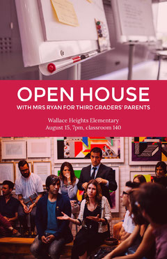 My Post Open House Flyer
