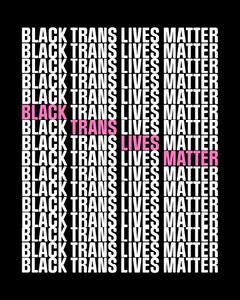 Black & White Black Trans Lives Matter Instagram Portrait Black And White