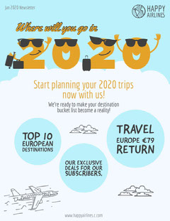 airline newsletter Vacation