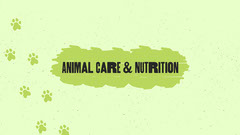 Animal Care & Nutrition Animal