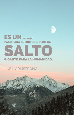 neil armstrong quote poster Octavilla