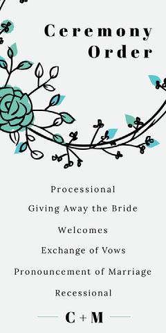 circle frame wedding program  Frame