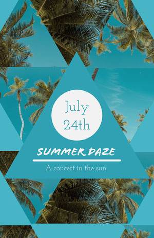 Blue Summer Daze Concert Poster Konsertaffisch