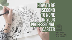 Green and White Career Advice Blog Post Graphic Career Poster