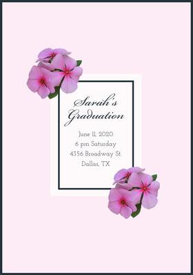 Sarah's <BR>Graduation  Graduation Invitation