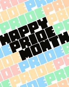 Colorful Typographic Pride Month Instagram Portrait Graphic Pride