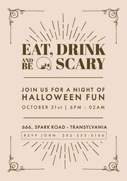 Halloween Night Party Invitation Halloween Party