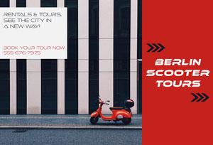 Red Berlin Scooter Tours Brochure Travel Brochure
