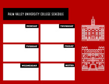 Palm Valley University College Schedule 行程表