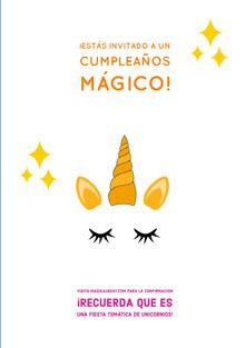 magical unicorn themed unicorn birthday cards  Tarjeta de cumpleaños