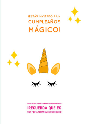 magical unicorn themed unicorn birthday cards  Tarjeta de cumpleaños de unicornio