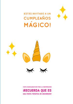 magical unicorn themed unicorn birthday cards  Tarjeta de cumpleaños con citas