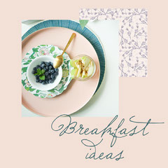 Pink Ceramics Breakfast Ideas Instagram Square  Breakfast