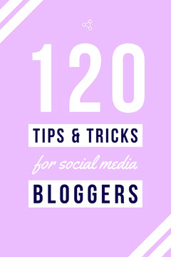 Pink Blogging Tips Pinterest Graphic Social Media Flyer