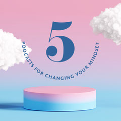 Pink Blue Gradient Podcasts For Changing Mindset Instagram Square  Positive Thought