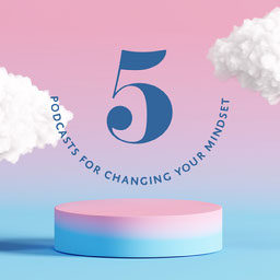 Pink Blue Gradient Podcasts For Changing Mindset Instagram Square