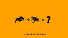 Orange and Black Minimalistic Riddle Facebook Banner Quiz Night Poster