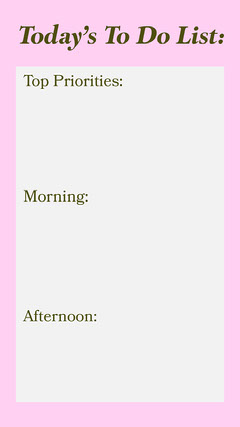Pink To Do List Instagram Story  Typography