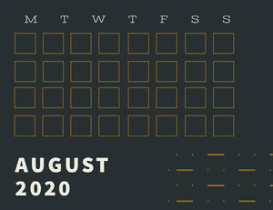 AUGUST 2020 Monatskalender