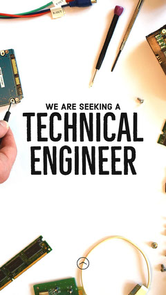 Seeking Technical Engineer IG Story Career Poster